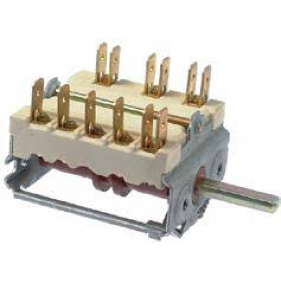 cam switch 3 operating positions 3NO sequence 0-1-2 16A shaft ø 6x4.6mm shaft L 26mm