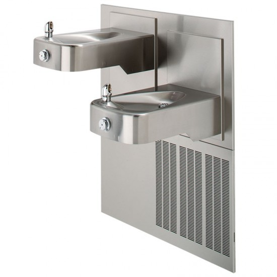 Barrier-Free Chilled Dual Wall Mount Fountain